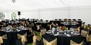 Rugby Hospitality Table Settings