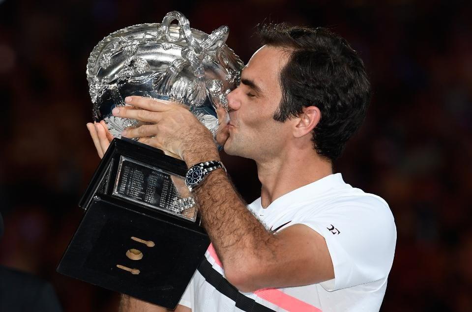 Roger Federer hits landmark 20th Grand Slam